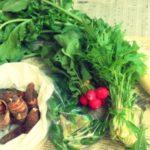 朝市で新鮮野菜がお得に買えました。